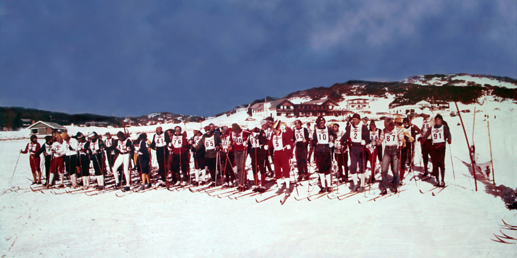 Start of the KAC Martini Cross Country Race at Perisher